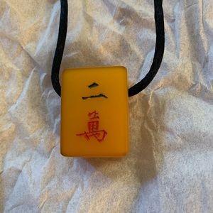 Jewelry - Mahjong Tile Necklace
